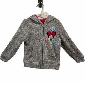 Disney Minnie Mouse salt & pepper colour hood zip up sweater 5